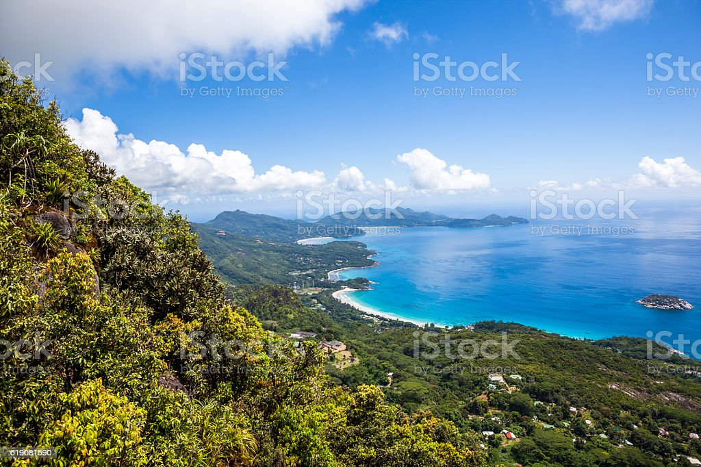 mahe island view stock photo