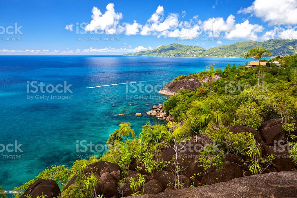 Mahe landscape stock photo