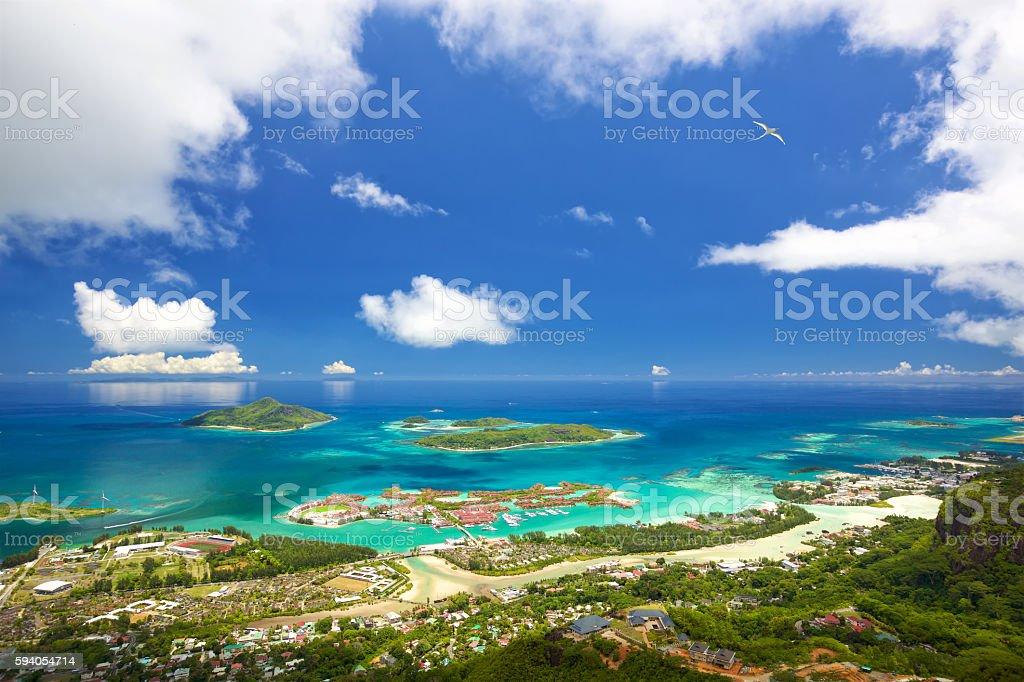 Mahe Seychelles coastline stock photo