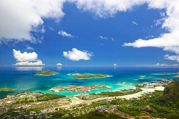 Mahe Seychelles coastline stock photo