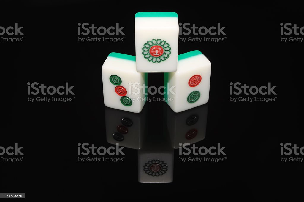 mahjong tiles royalty-free stock photo