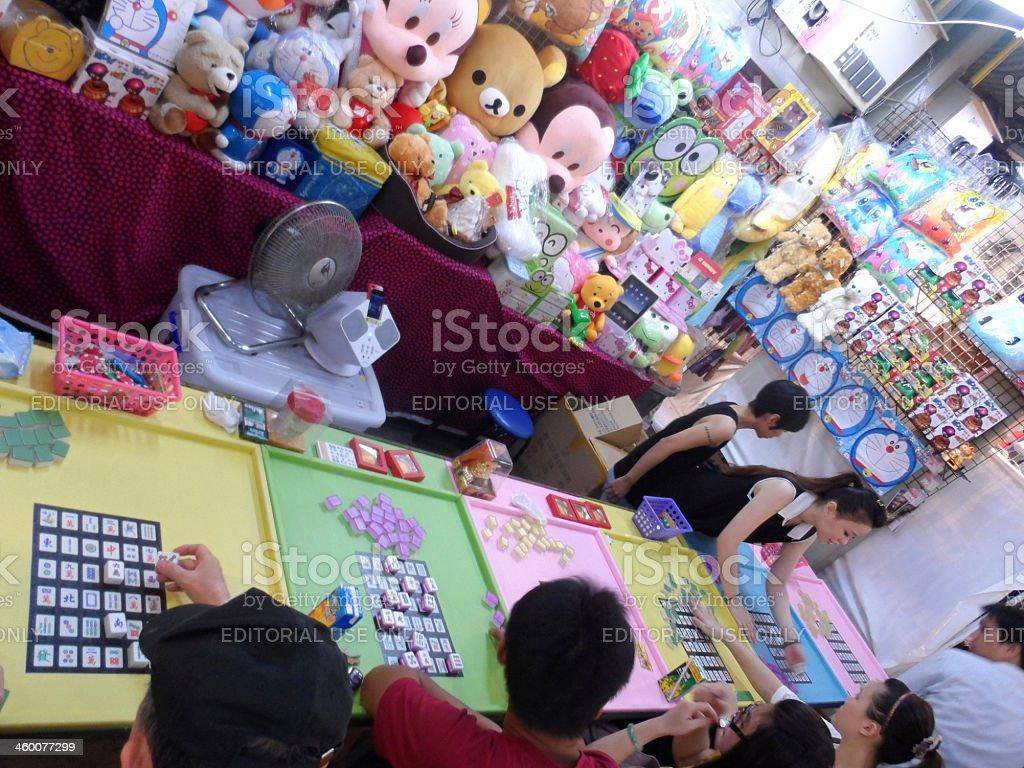 Mahjong-game shop in Taiwan royalty-free stock photo