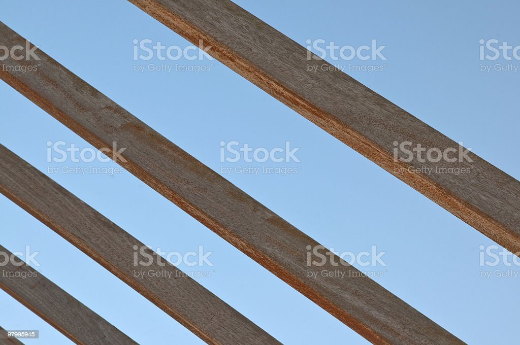 mahogany beams royalty-free stock photo