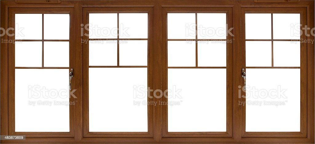 Mahogany Framed Set Of Windows stock photo 483873659 | iStock
