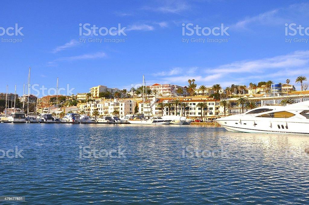 Mahon Harbor, Menorca stock photo