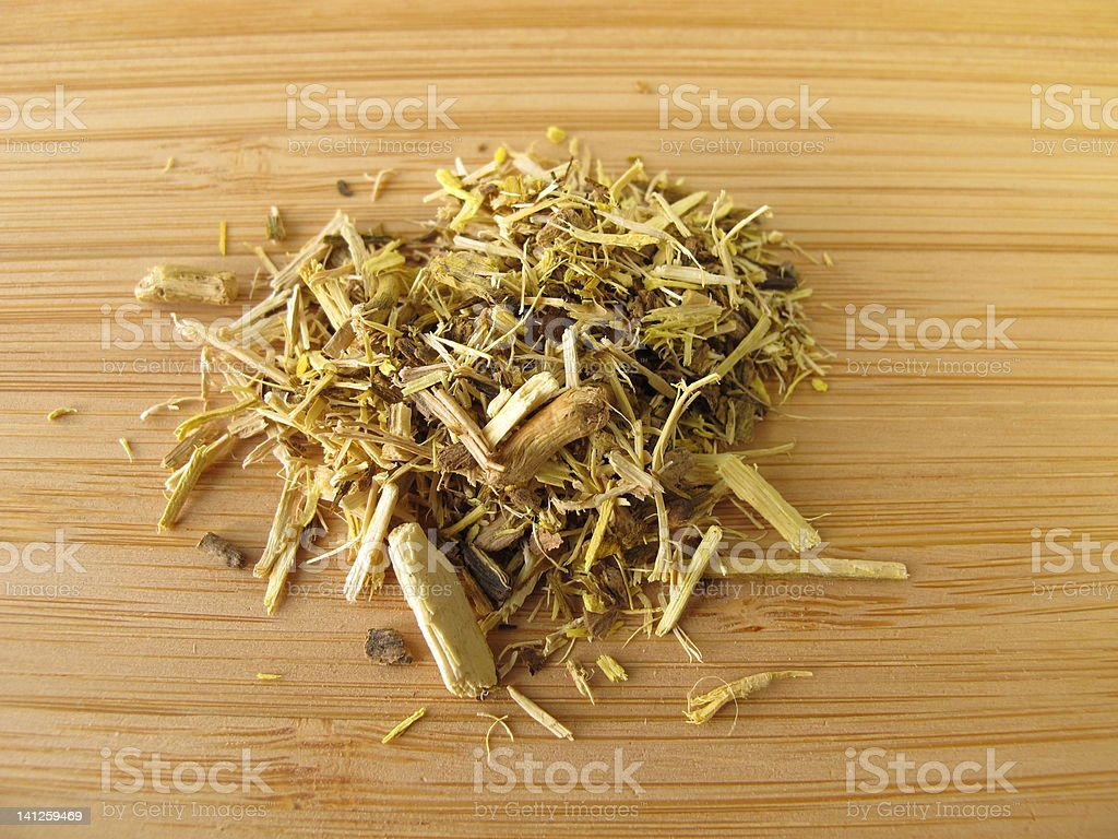 Mahonia root, Berberidis aquifolium radix stock photo