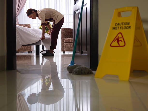 maid at work and cleaning in luxury hotel room - maid stock pictures, royalty-free photos & images