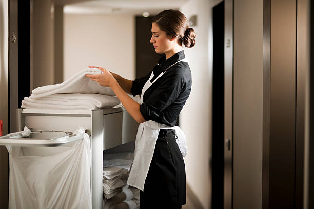 maid at work - maid stock pictures, royalty-free photos & images