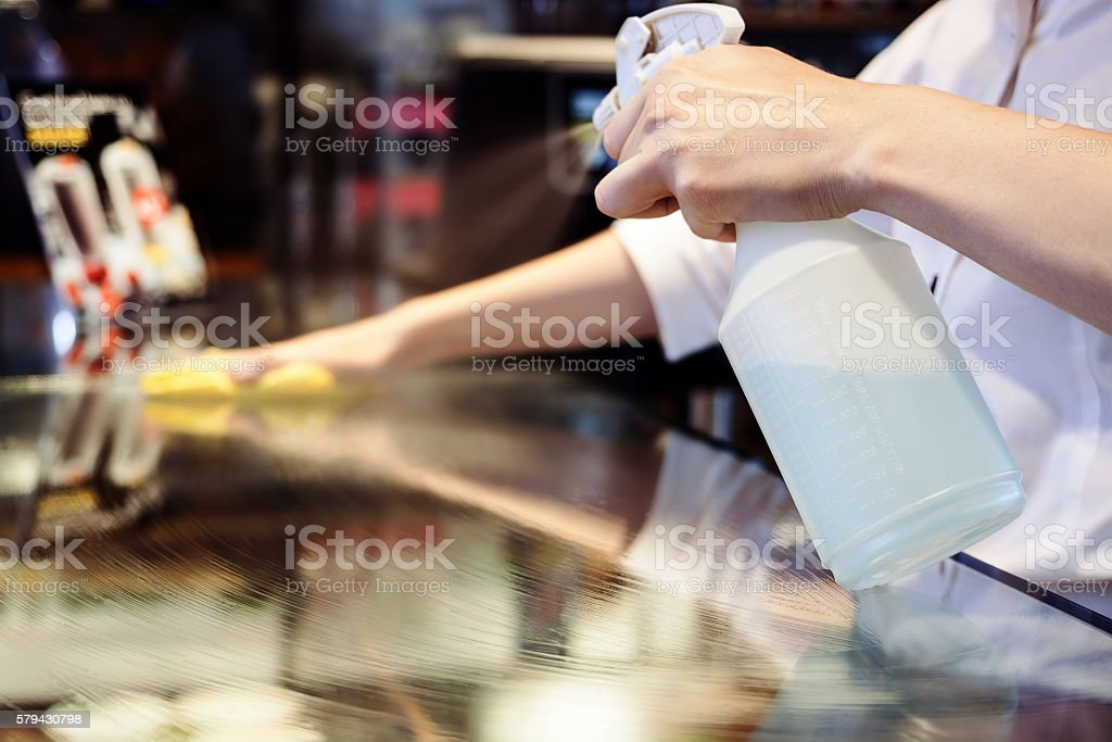 Maid Cleaning Service stock photo