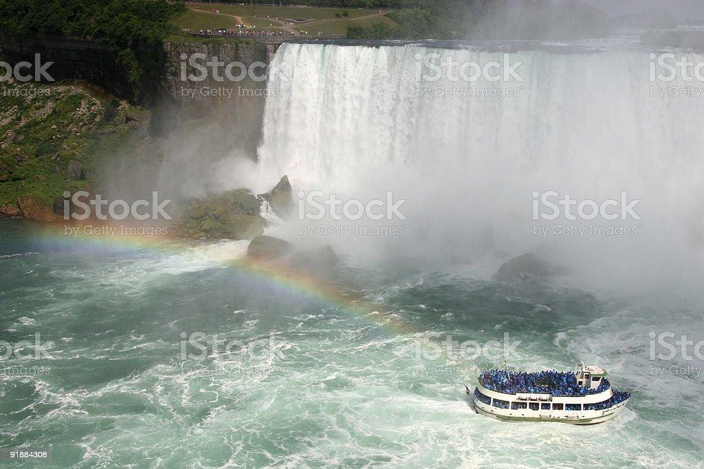 Maid of the Mist at Niagara Falls stock photo
