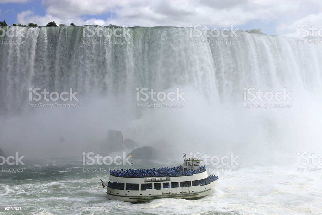 Maid of the Mist Boat Tour, Ontario, Canada royalty-free stock photo