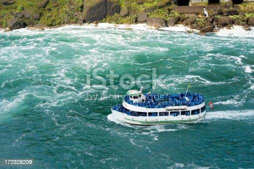 The Maid of the Mist tour boat headed towards Niagara Falls.Related Niagara Falls image:
