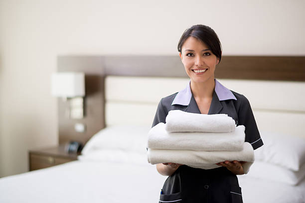maid working at a hotel - maid stock pictures, royalty-free photos & images