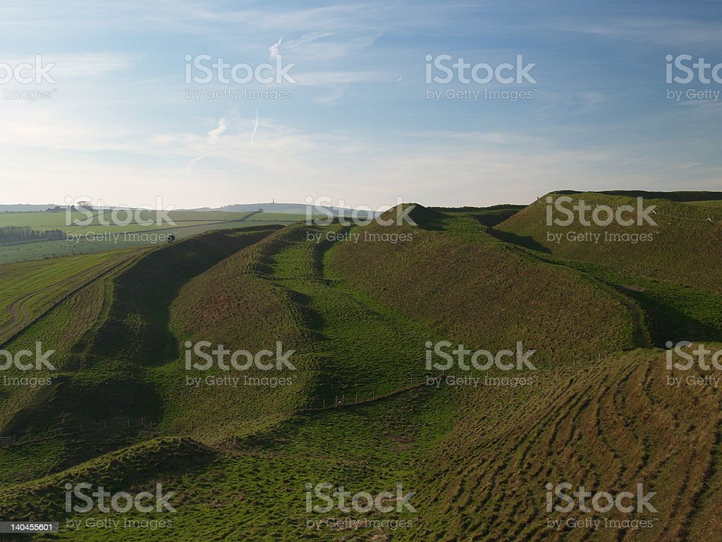 Maiden Castle, Dorset stock photo