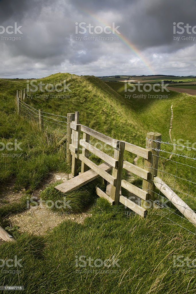 Maiden Castle royalty-free stock photo