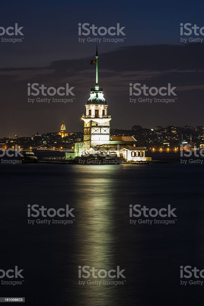 Maiden Tower in istanbul royalty-free stock photo