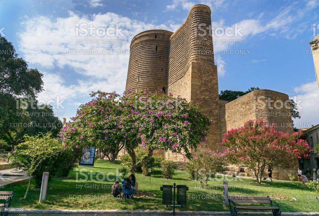 Maiden Tower in Old city, Icheri Sheher. Baku stock photo