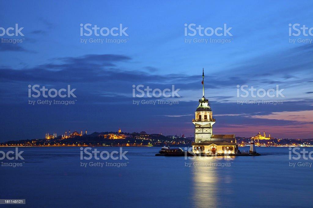 Maiden Tower, Istanbul/Turkey royalty-free stock photo