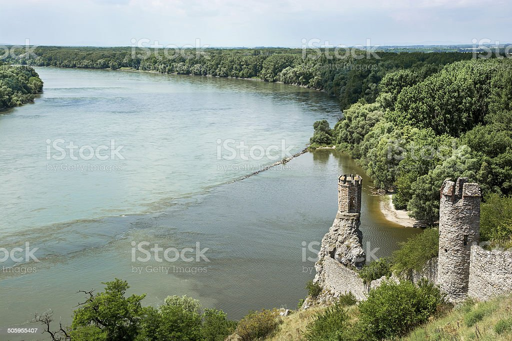 Maiden tower of Devin castle royalty-free stock photo