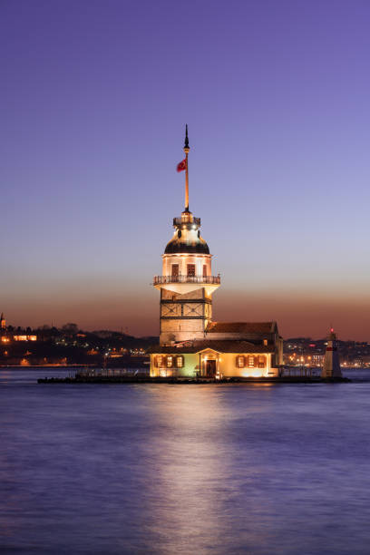 Maiden Tower of Istanbul stock photo