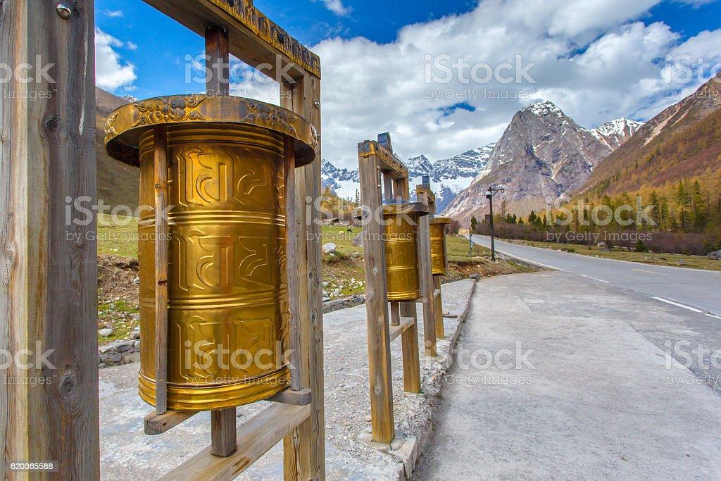 Maiden's Mountain (Mt.Siguniangshan) zbiór zdjęć royalty-free