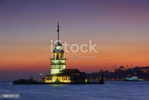 182421396 istock photo Maiden's tower at night 155151117