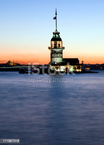 182421396 istock photo Maiden's tower at night 171367019