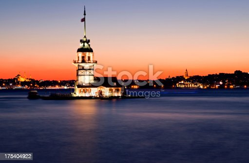 182421396 istock photo Maiden's tower at night 175404922