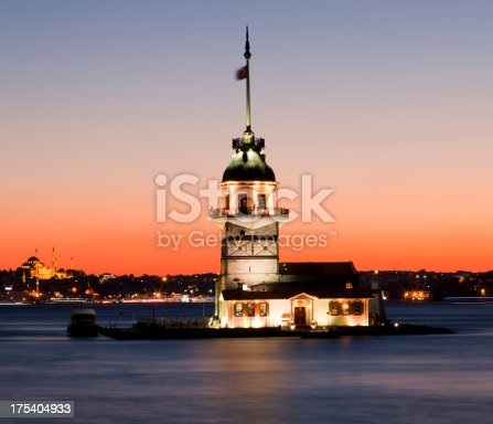 182421396 istock photo Maiden's tower at night 175404933