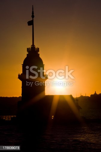 182421396 istock photo Maiden's tower at night 175539073