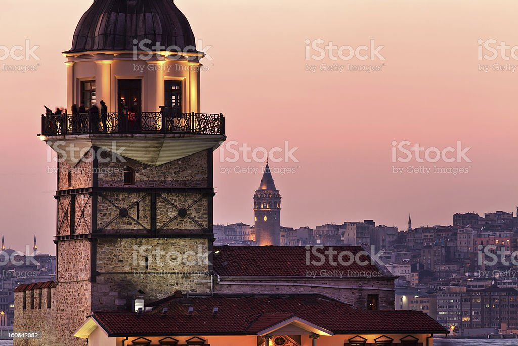 Maiden's Tower Details royalty-free stock photo