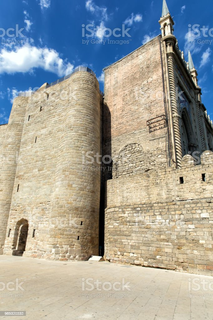 Maiden's Tower. Fortress of the Old Sity Baku. Historical core of Azerbaijan Baku. royalty-free stock photo