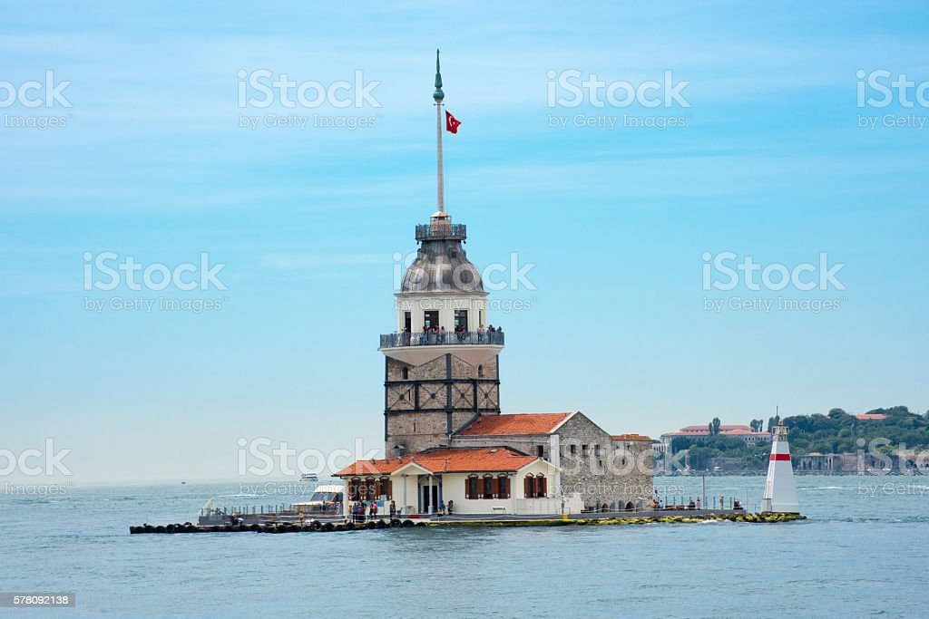 Maiden's Tower in Istanbul stock photo