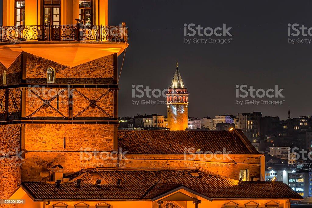 Maiden's Tower in Istanbul, Turkey stock photo