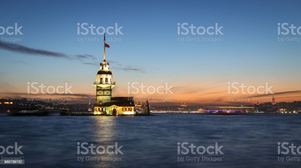 Maidens Tower in Istanboel, Turkije - Royalty-free Architectuur Stockfoto