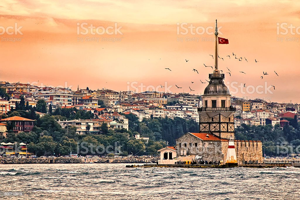 Maiden's Tower - Istanbul stock photo