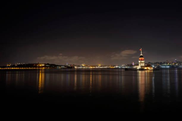 Maiden's Tower , Istanbul, Turkey stock photo