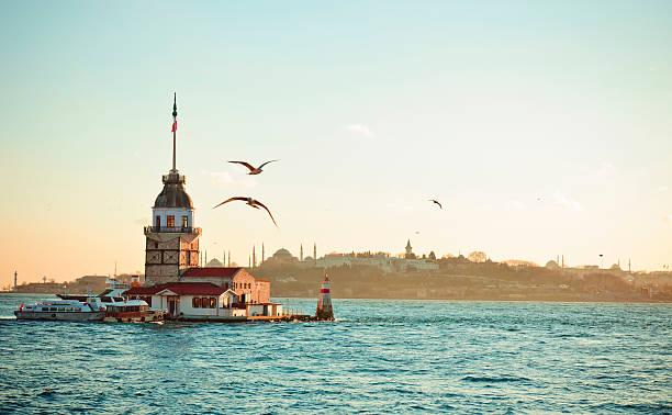 девичья башня/kiz kulesi xxxl - стамбул стоковые фото и изображения