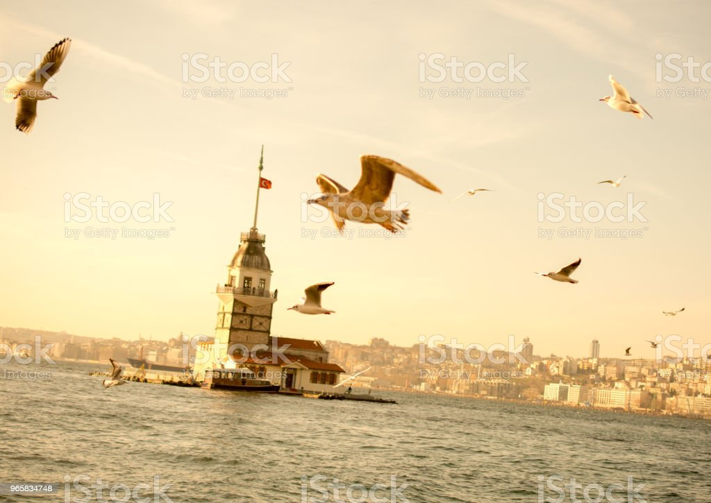 Maidens Tower located in Istanbul - Royalty-free Ancient Stock Photo