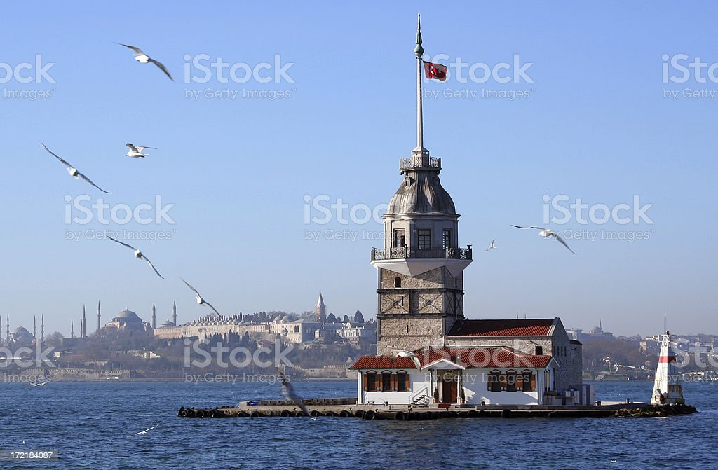 Maiden's Tower royalty-free stock photo