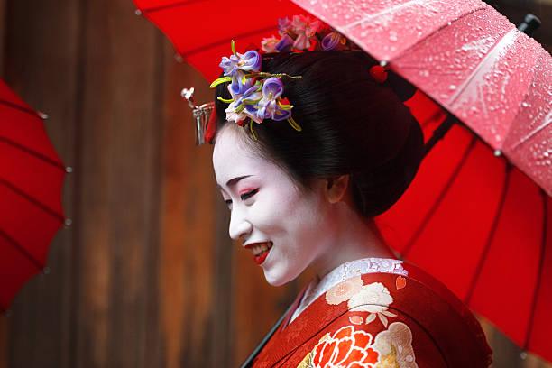 Maiko girl stock photo
