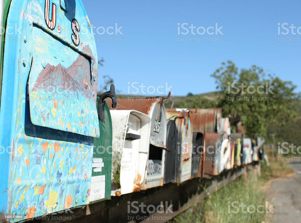 Mail American Country Style royalty-free stock photo
