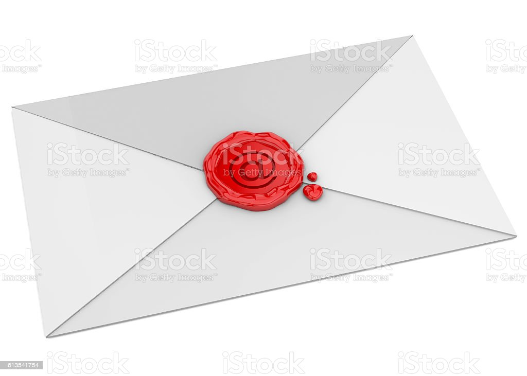Mail and Sealing Wax - 3D stock photo