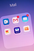 Mail Apps on Apple iPhone 6s Plus Screen