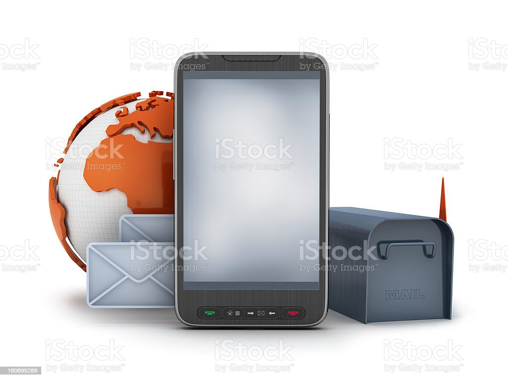 Mail at the cell phone royalty-free stock photo