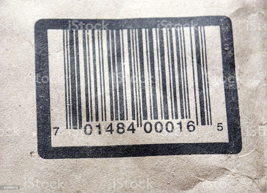 mail barcode royalty-free stock photo