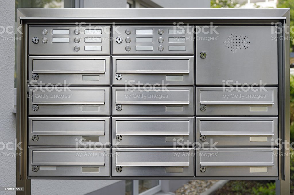 Mail boxes stock photo