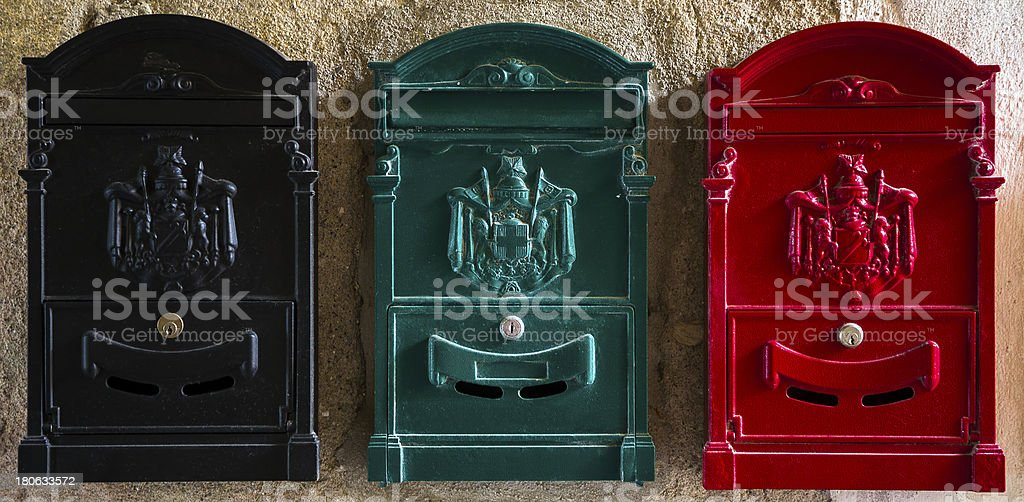 Mail boxes royalty-free stock photo