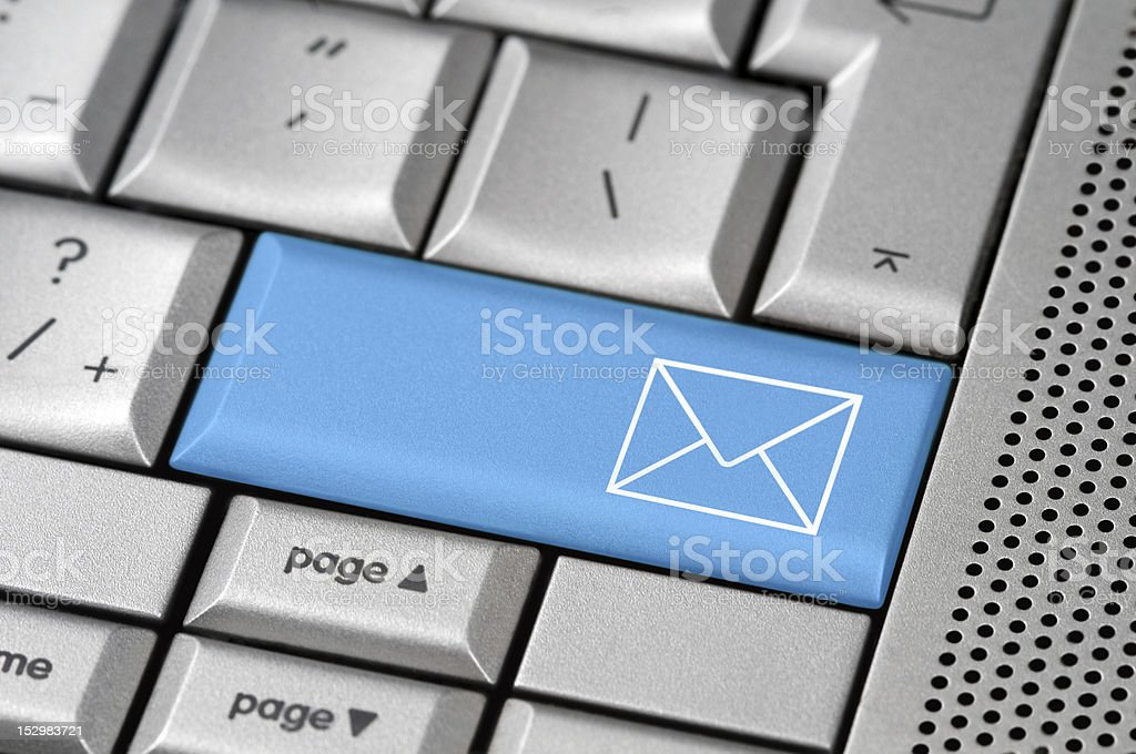 Mail button royalty-free stock photo