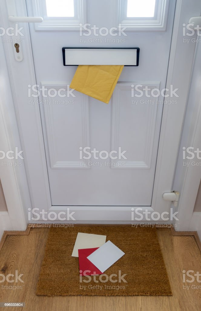Mail coming through the letterbox front door royalty-free stock photo & Mail Coming Through The Letterbox Front Door Stock Photo \u0026 More ...